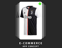 Juventus Clothing | Ecommerce App Concept