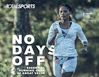 Totalsports Winter Running _No Days Off_ Mag Ads 2018