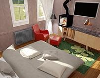 bedroom design (3dsmax-ps)