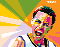 Stephen Curry WPAP pop art Style by Panca