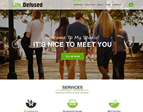 Life Defused One Page PSD Website Template