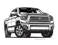 Toyota Tundra Illustration