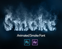 Smoke Letters / Font Animation