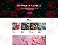 Flower landing page