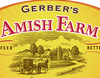 Gerber's Amish Farm Label Illustrated by Steven Noble