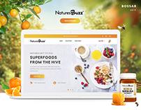 Honey Online Store Design, Web Design, UX/UI Design