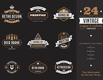 Vintage Labels Badges Logo Templates v2