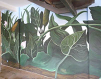 Floral Mural, private house, Greece, 2015.
