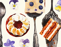 Watercolor Confectionery Illustration