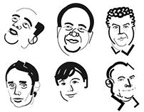 Illustrations for Sekret Firmy Magazine (Russia)