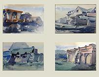 Kashmir - Watercolor Landscapes