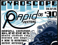 Rapid Music Festival Print & Web Advertising
