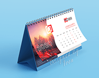 Desk Calendar Design 2020