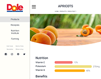Product page for Dole #ThirtyUI