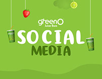 GreenO Juice Bars Social Media