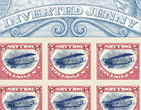 USPS Inverted Jenny Stamp Illustrated by Steven Noble