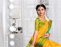 Silk Saree Photo Shoot For maharaja silks in Tanjore