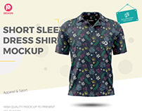 Short Sleeve Dress Shirt Mockup
