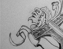 Illustrator of the Eiffel Tower