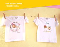 #givebeesachance T-shirt design