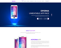 Oporna App Landing Page PSD Template