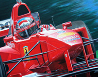 M. Schumacher, acrylic on canvas, year 1998