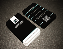 FREE Vertical Business Card Template Download