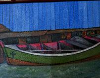 Barco - acrílico sobre tela