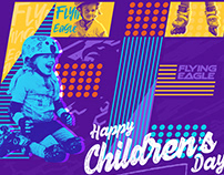 Flying Eagle Children's Day Poster Designs