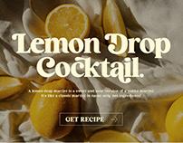 Cocktail - Elegant Retro Serif