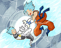 Dragon ball Z Fan art: Goku vs Vegeta