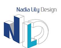 Logo for new established business Nadia Lily Design