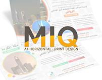 MIQ | A4 Horizontal | Print Design