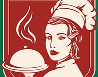 Vera's Italian Restaurant Logo Design