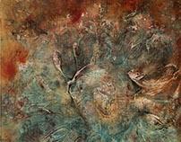 Ahvatlus / Temptation 160 x 160 cm on canvas, 2017