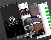 Sports Social Media App for iPhone
