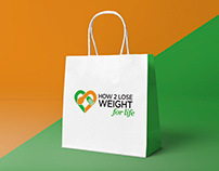 How 2 Lose Weight for Life Logo + Branding