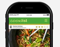 Concept Design of Cooklist
