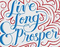 Live Long & Prosper - Handlettering