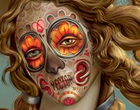 Venus Dia del Los Muertos- Adobe Illustrator tribute
