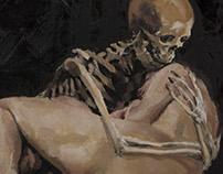 Der Tot und Das Mädchen - Oil Painting