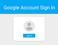 Google Account Sign In: Material Design Concept