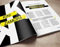 Kini Zamora Magazine Spreads