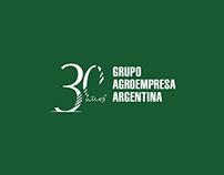 GRUPO AGROEMPRESA ARGETINA – ISOTIPO 30 AÑOS