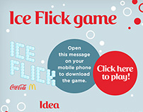 Coca Cola Ice Flick game