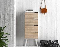 Drawer with Piana Oak