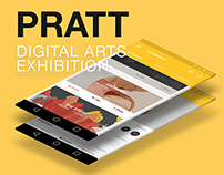 Android App Design - Pratt DDA Exhibition