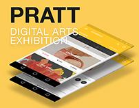 Android App Design - Pratt DDA Exhibition