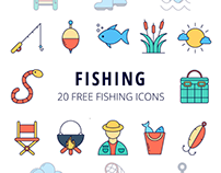 Fishing Vector Free Icon Set