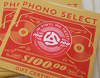 Record Store Gift Certificates